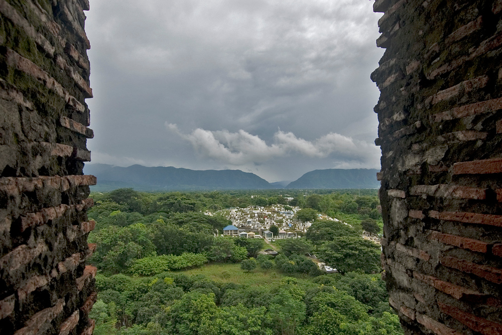 View from bell tower, St Augustine's  Church, Vigan, Philippines