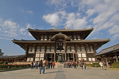 Todaiji Temple in Nara is believed to be the largest wooden building in the world