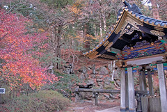 Shrine with autum colors in Nikko
