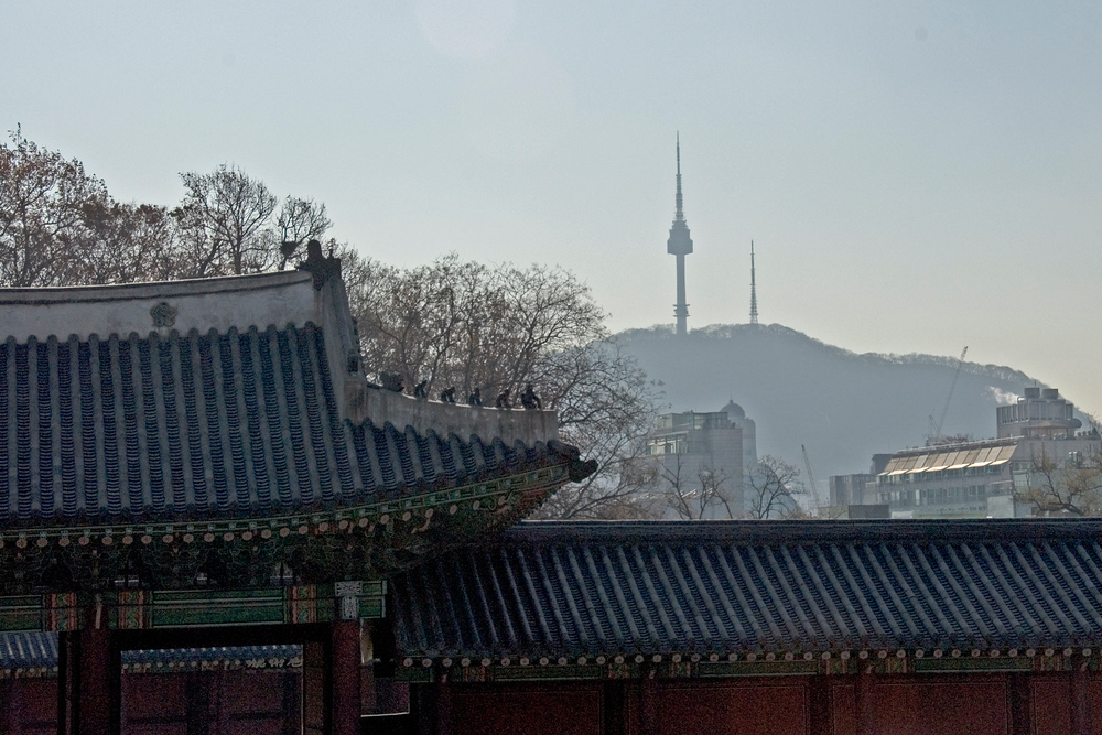 Changdeok Palace and Seoul Tower