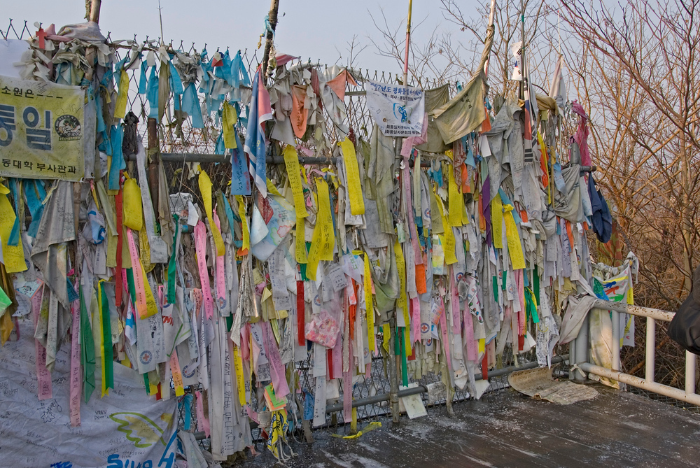 Ribbons on Freedom Bridget, DMZ, South Korea