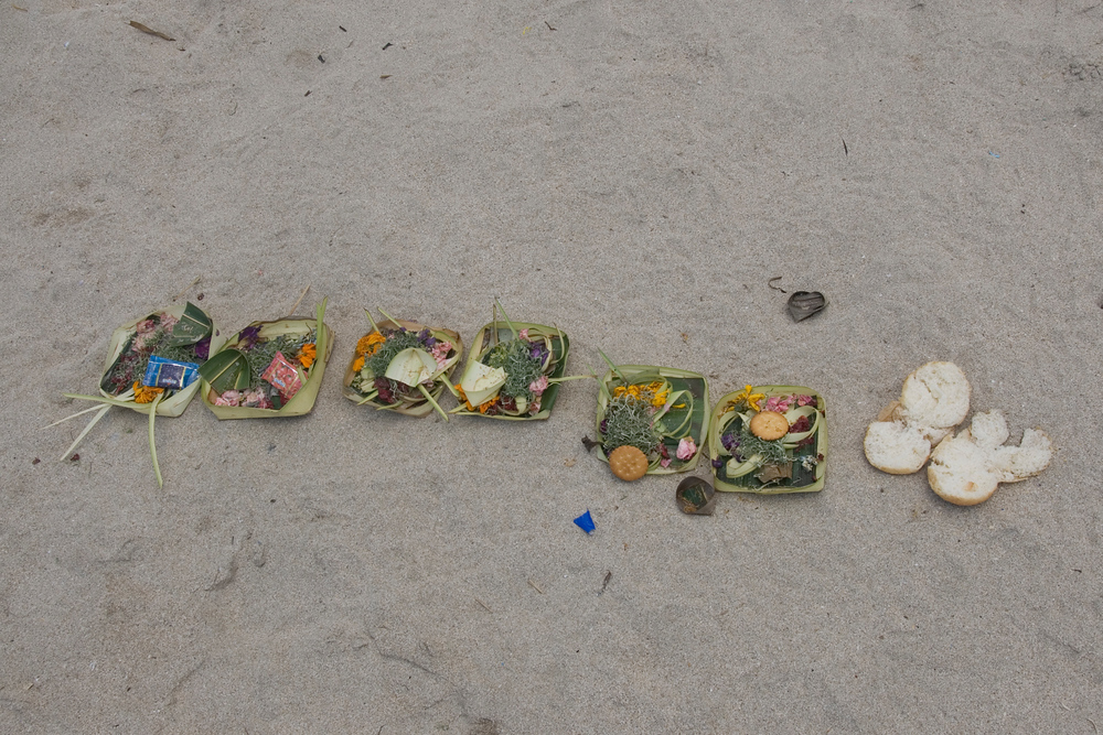 Offering plates, Bali, Indonesia