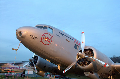 TWA DC-2 on display at the Museum of Flight