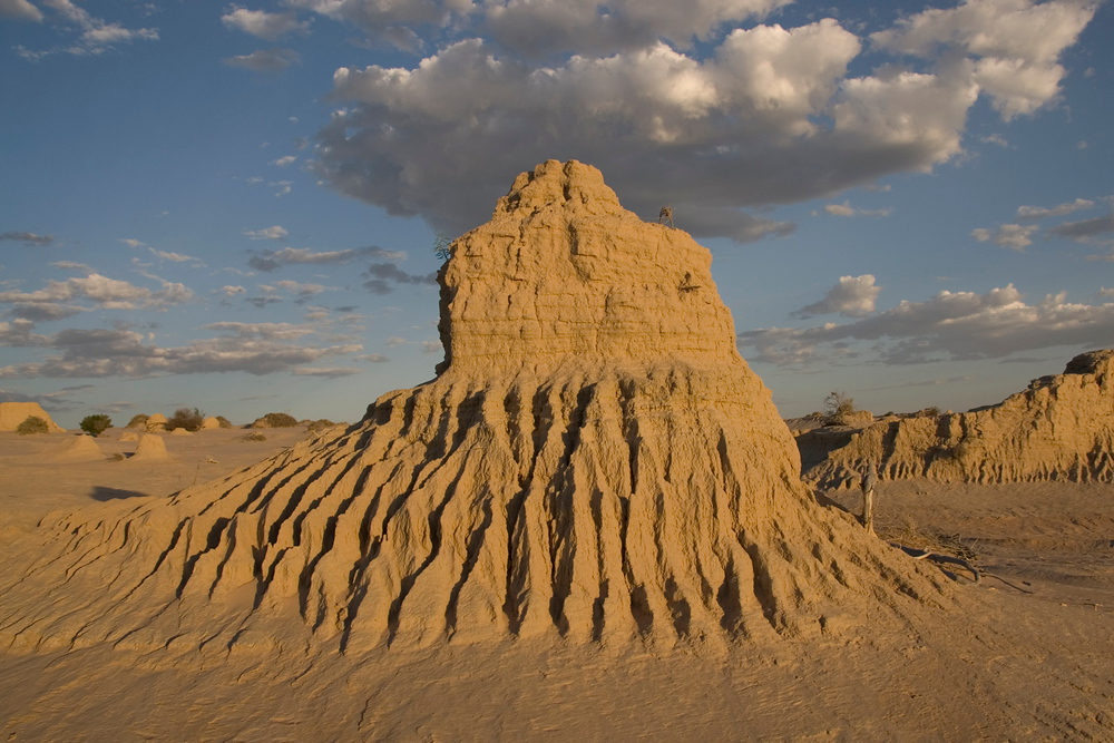 Sand erosion formation, Mungo National Park NSW Australia