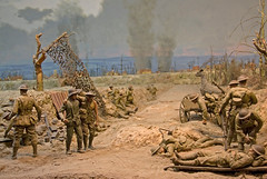Diorama at war museum