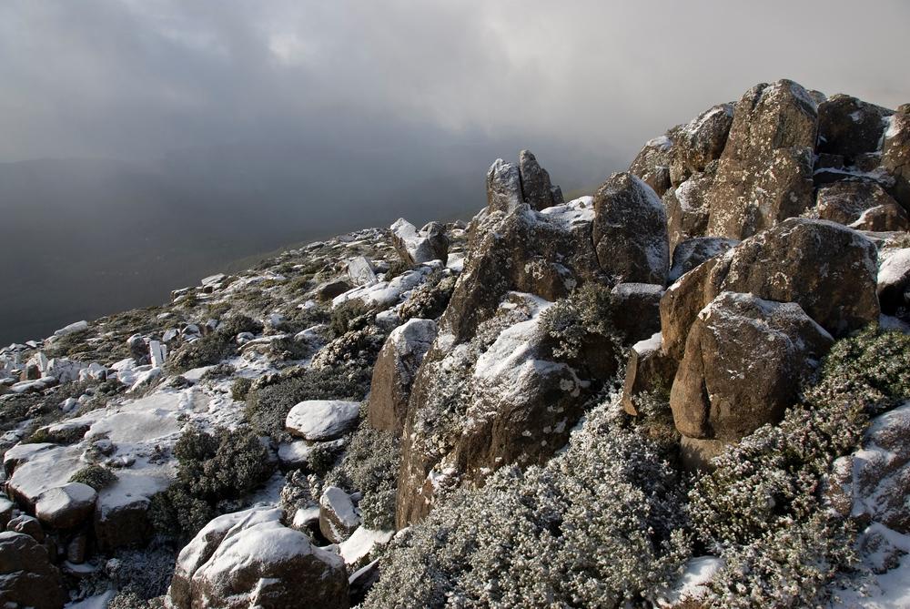 Snow on Mt. Wellington. Hobart, Tasmania