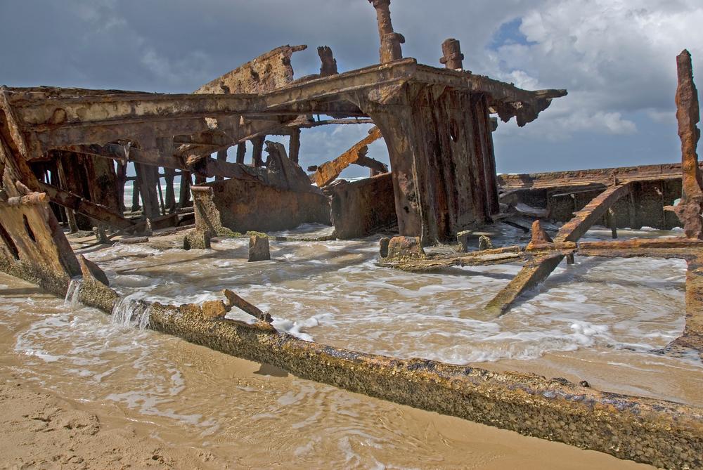 Shipwreck on Fraser Island, Australia