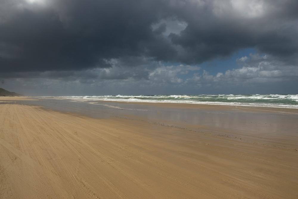 Storm clouds over Fraser Island, Queensland, Australia