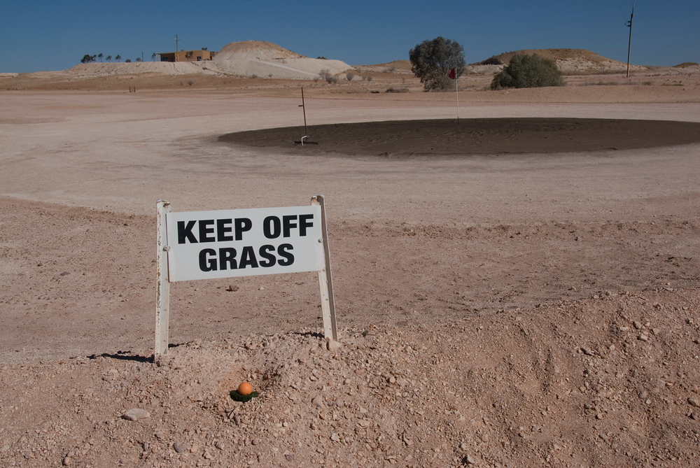 Keep of the grass sign, Coober Peady, South Australia