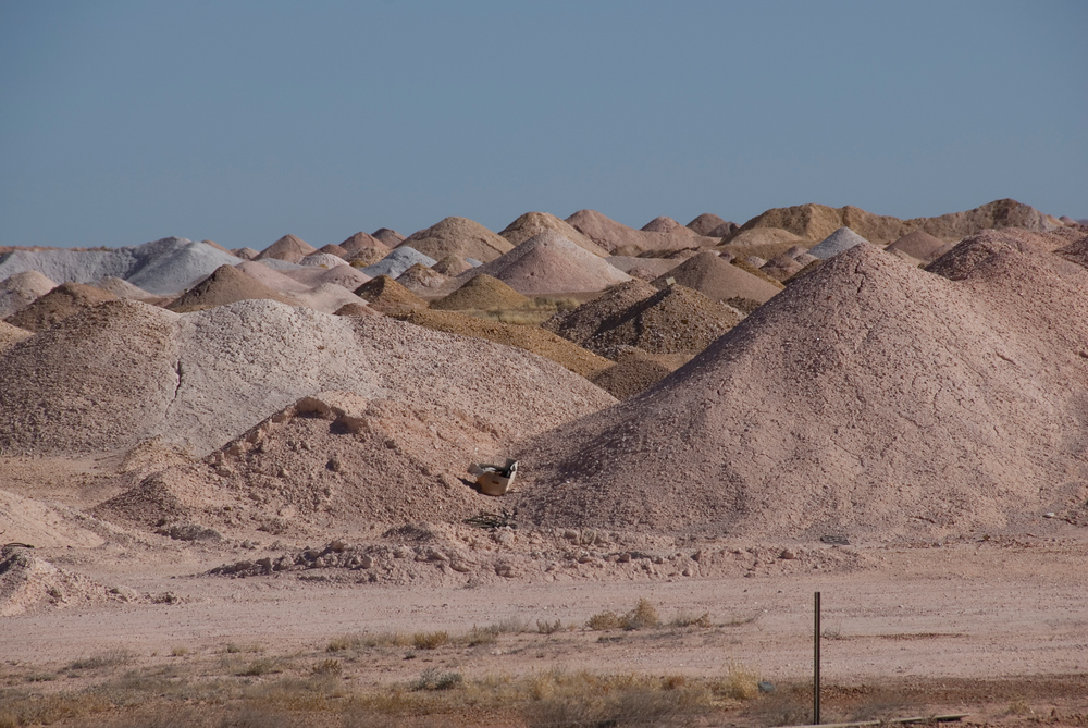Opal mining in Coober Peady, South Australia