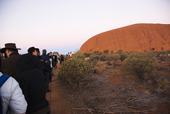 Crowds at Uluru at Sunrise