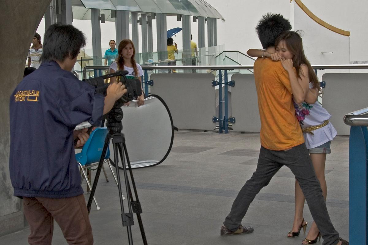Filming a soap opera in Bangkok, Thailand