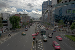 Busy street in Bangkok