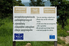 Land mine waring sign