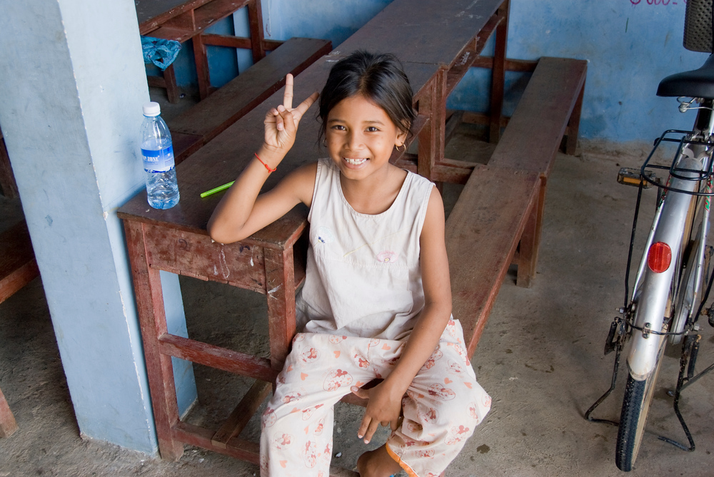Girl at Orphanage, Phnom Penh, Camboda