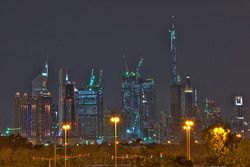 Dubai skyline at night