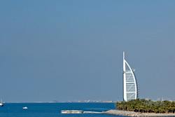 Burj al Arab is the best known landmark in Dubai