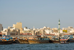 Prior to the discover of oil, Dubai was a trading center centered around the creek
