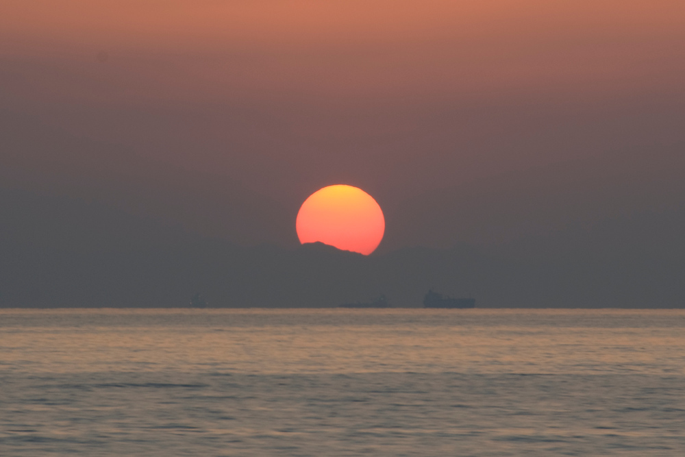 Sunset on the Strait of Hormuz