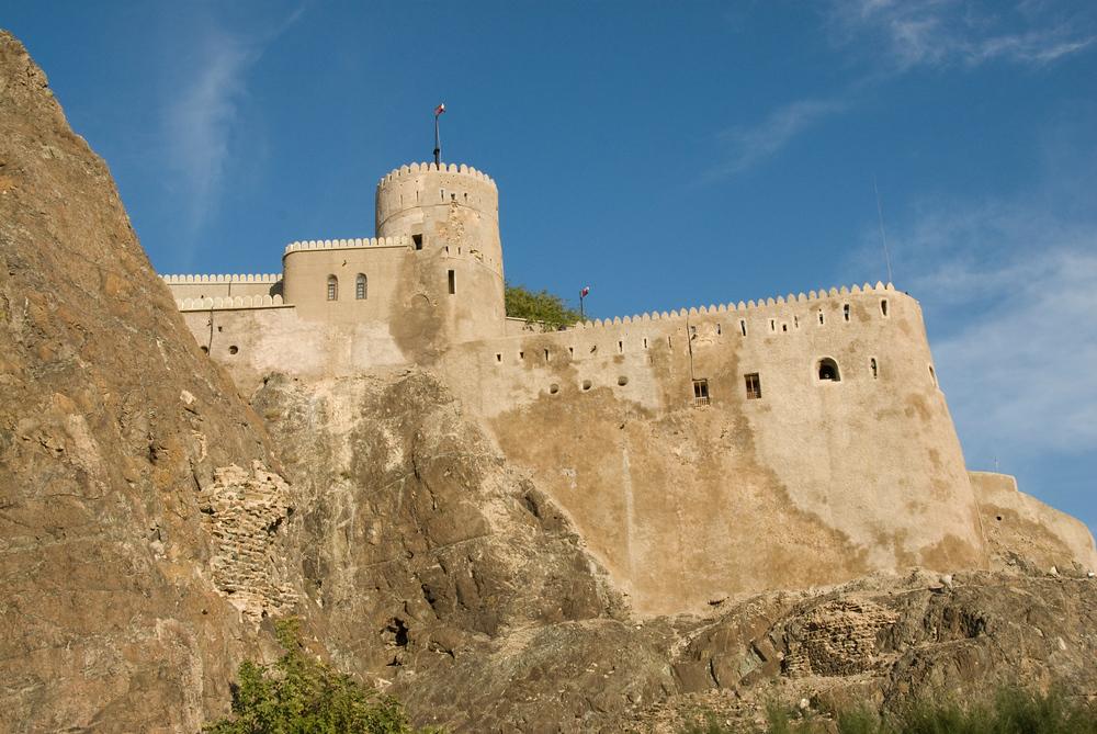 Castle on Hill. Muscat, Oman
