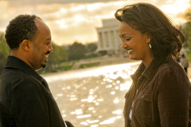 Meaza and Zewdu Engagement Photos in DC
