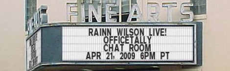 Rainn Wilson Chat