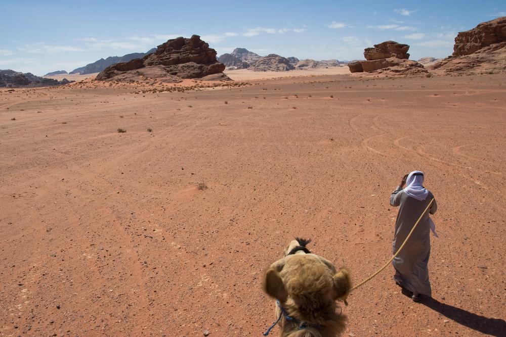 View from top of a camel - Wadi Rum, Jordan