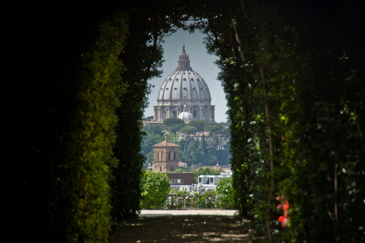 St. Peters through the keyhole - Rome, Italy