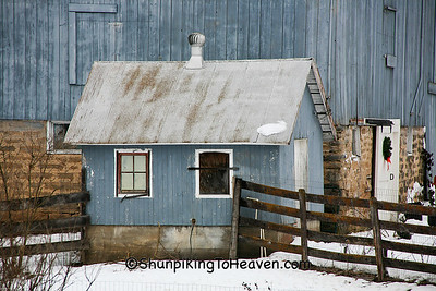 Milkhouse in Winter, Richland County, Wisconsin
