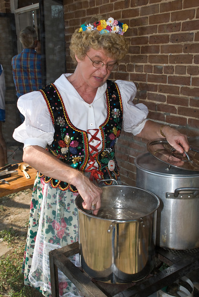 2009 Bremond Polski Dzien - Wanda Ray stirring a pot of czarnina