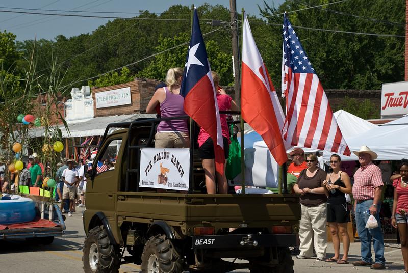 2009 Bremond Polski Dzien - Polish Texan color guard