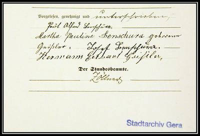 Signature of H.E. Geissler