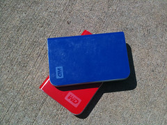 My storage solution while Im on the road: Mr Blue and Mr Red