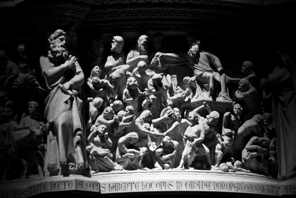 Bas Relief in Pisa Cathedral, Pisa, Italy