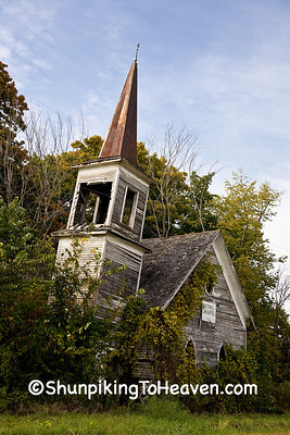 Abandoned/Abandoned-Churches/Abandoned Bethel Chapel (1880) with Leaning Steeple, Richland County, Wisconsin