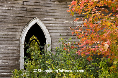 Abandoned/Abandoned Churches/Windows of Abandoned Church in Autumn, Richland County, Wisconsin