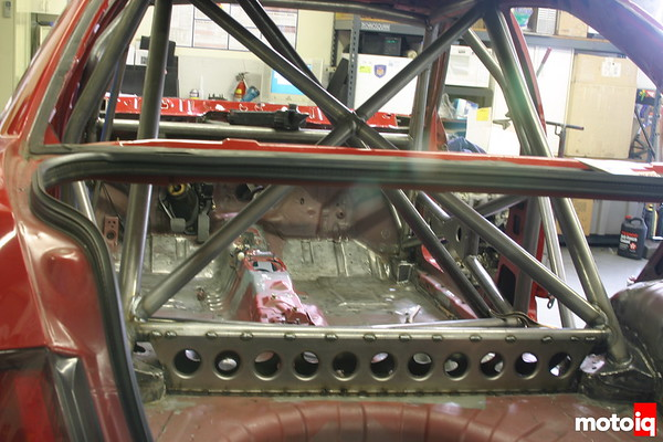 rear roll cage section