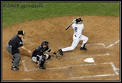 Jeter swinging for the fences