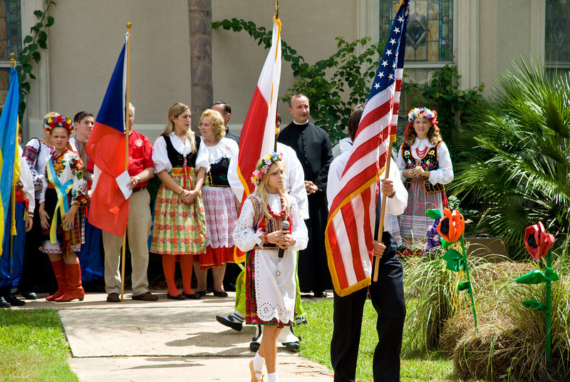 Presentation of the US and Slavic country flags