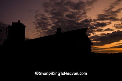 Amish Barn Silhouette at Sunrise, Dane County, Wisconsin