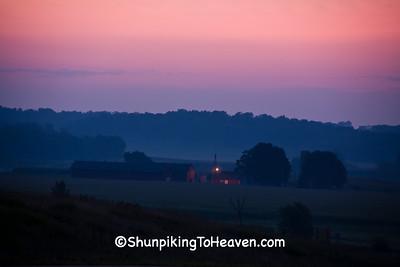 Sunrise Farm Scene, Dane County, Wisconsin
