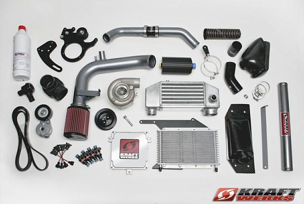 KraftWerks Honda Fit High Boost Supercharger Kit