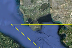 Satellite image of Point Roberts