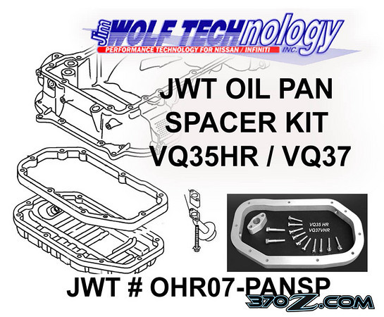 Jim Wolf Technology, JWT, Oil pan spacer, VQ37VHR, Nissan 370z