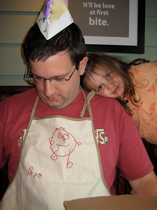 Papa and Catherine and the Apron