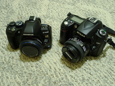 Compared with Nikon D90 and 24mm f/2.8 lens