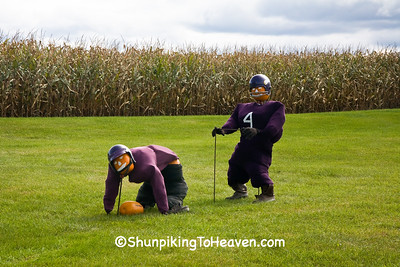 The Snap, Scarecrow Version of the Vikings' New Quarterback, Brett Favre, Houston County, Minnesota