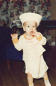 Me at one year old dressed as a sailor (sailor)