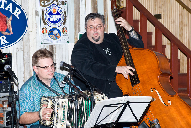 Bradley Jaye Williams playing concertina with Mark Rubin on upright bass