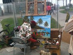 Street artist on Venice Beach